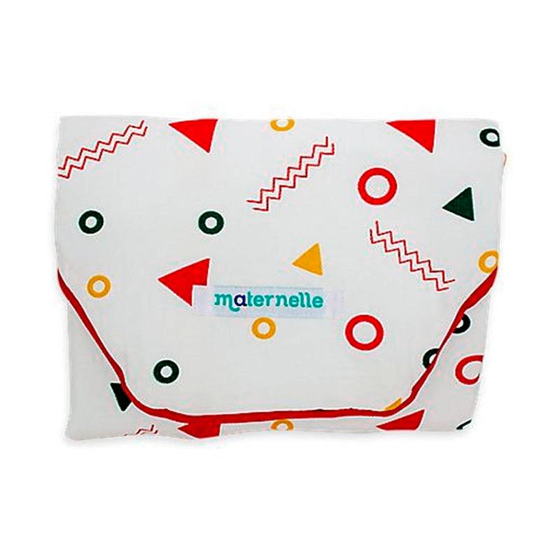 Maternelle - Cambiador Portátil para Bebés Rojo Geometrico