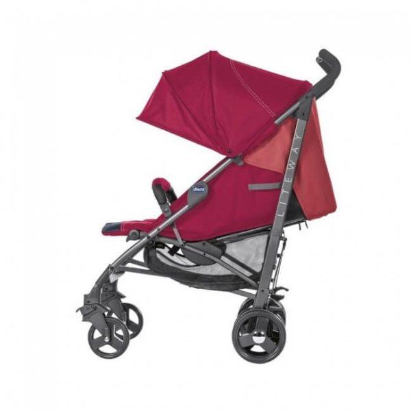 Chicco - Coche de Paseo Lite Way 3 Top Red Berry - Productos para bebes | Mamita y Yo